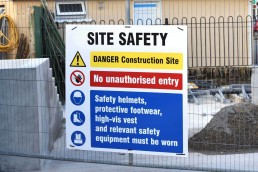 Site Safety Sign - Corriboard Multi-Message Site Safety Sign