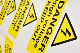 Printing Electrical Warning Signs