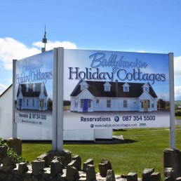 Ballybunion Holiday Cottages - Aluminium Signage