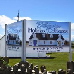 Ballybunion Holiday Cottages - Aluminium Signage
