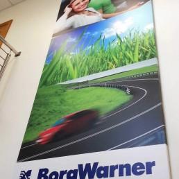 BorgWarner - Fabricated Aluminium Composite Tray Signage