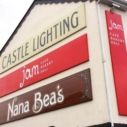 Castle Lighting - Fabricated Aluminium Composite Signage