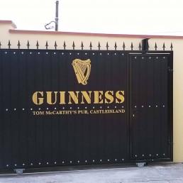 Tom McCarthy's Pub - Gold Vinyl Guinness Lettering & Logo