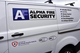 AF Security - Vehicle Signage