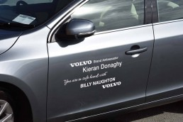 Billy Naughtons Volvo - Door Graphics