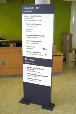 HSE - Self Standing Directory Signage - Wayfinding