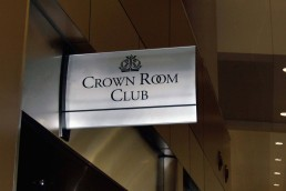Crown Room Club - Wayfinding Signage