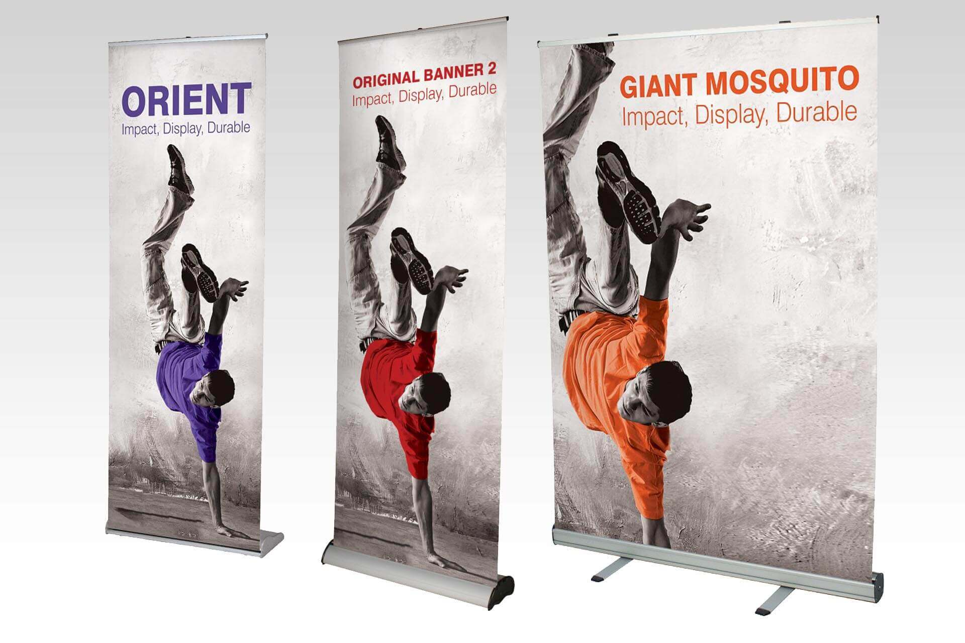 pull up banner stands from 80cm to 150cm wide