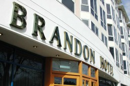 Brandon Hotel - Mirror Gold Channel Lettering