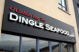 O Cathain Iasc Teo Dingle Seafood - Illuminated Channel Lettering