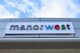 Manor West Retail Park - Illuminated Channel Lettering