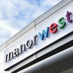 Manor West Retail Park - Illuminated Channel Lettering (Day Time)