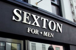 Sexton for Men - Stainless Steel Built Up Lettering