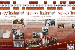 Tralee Credit Union - Chronology Display Graphic Design