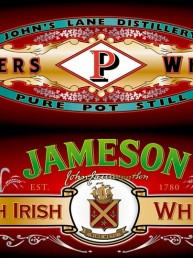 Irish Whiskey Panels - Graphic Design