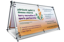 Kerry Recreation & Sports Partnership - Self Standing PVC Banner Frame