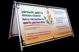 Kerry Recreation & Sports Partnership - Self Standing PVC Banner Frame