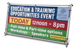Kerry ETB Training Centre - A-Banner Display System