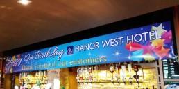 Manor West Hotel - Birthday Banner