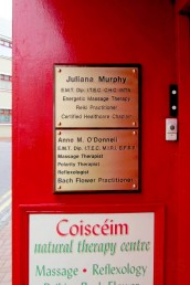 Coisceim Natural Therapy Centre - Nameplates