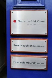 Naughton & McGrath Solicitors - Nameplates