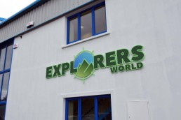 Explorers World - Dingle - Raised 3D lettering with Vinyl and Printed Inlays