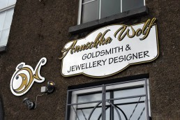 Anuschka Wolf Goldsmith - Acrylic Shop Signage