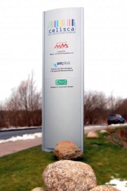 Celisca - Pillar Signage