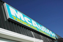 McAuliffe Trucking - Illuminated Exterior Lightbox