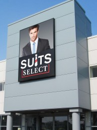 Suits Select - Exterior Illuminated Lightbox