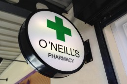 O'Neills Pharmacy - Illuminated Projecting Sign
